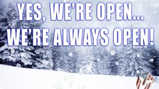 No Snow Storm Can Stop Us! We're open 2-1-21!