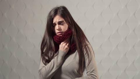 Girl demonstrates Covid-19 symptoms