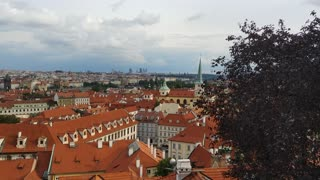 Red roofs of Prague, Europe