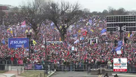 Aerial Shot of The Trump D.C Rally