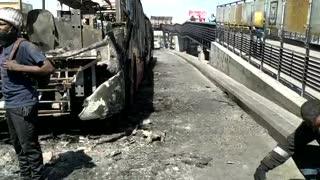 Balance de los daños en Bogotá tras las protestas