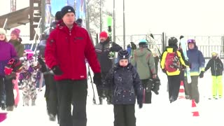 Skiers hit slopes near Moscow as COVID cases soar