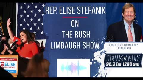 Elise Stefanik joins Jason Lewis on the legendary Rush Limbaugh Radio Show. 05.07.21