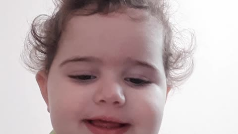 Baby Girl Hilariously Is Recording Her Video.