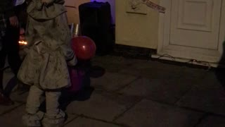 Pennywise Runs from Jump Scare