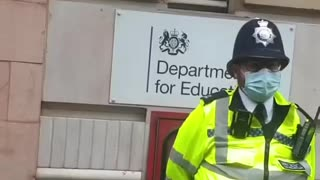 London Protest in front of department of education