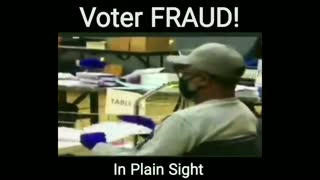 Voter FRAUD in Plain Sight - 2020 Style
