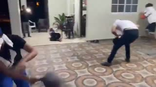 Professional pillow battle