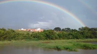 Double rainbow in Taquarituba, SP, Brazil