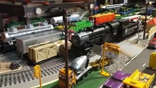 O Guage Lionel train layout 4x8 part 1