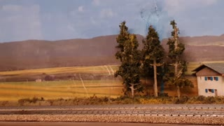 Model train with sound and travelers