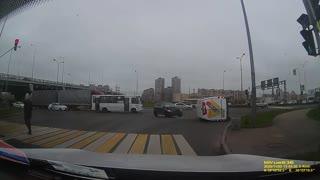 Van Overturned in Intersection Incident