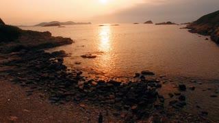 Beautiful sunrise from ocean very nice view