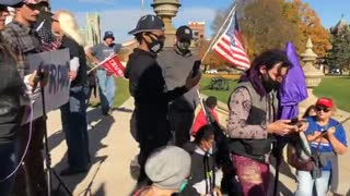 Day 2 Michigan State Capitol STOP THE STEAL Brandon Straka Video 2