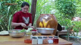 Blue Crab Papaya Salad Cooking - Cooking With Sros