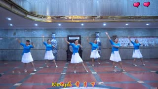 China Square Dance Fitness Dance with teaching