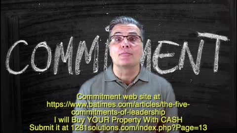 COMMITMENT wants to BUY YOUR Property
