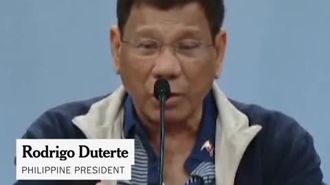 """PRESIDENT OF THE PHILIPPINES: """"FOR THOSE WHO DO NOT WANT IT..."""
