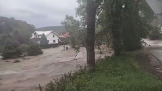 Massive flooding in Poland