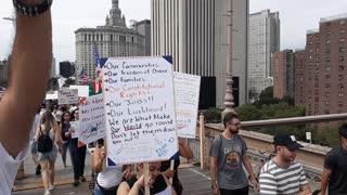 Medical Freedom March Brooklyn Bridge