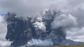 Mount Aso has erupted in southern Kyushu Japan