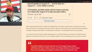 Taliban THREATENS Joe Biden