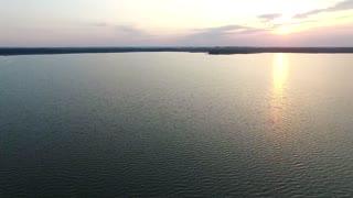 flight over the lake sundown boat 2