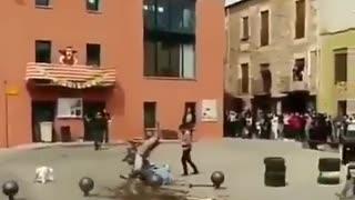 Man saved luckily during work