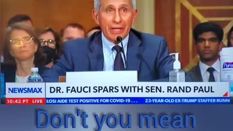 Rand Paul - Dr. Fauchi