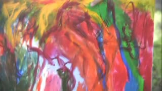HSKY - Bow to the Giant - Acrylic on canvas Abstract Artist Original 2010 Colorful modern FH0