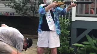 Grandma doing grandma