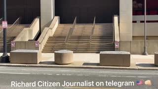 Video Shows FBI Buliding In DC Empty, Doors Boarded Over!