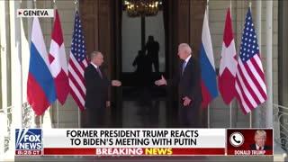"""""""We Didn't Get Anything"""" - Trump Rips Biden's Putin Summit"""
