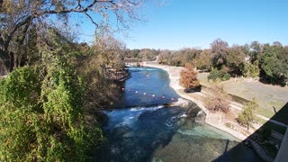 The Comal Chutes from San Antonio Bridge