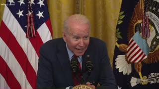 Creepy Joe Biden Whispers in the Microphone Again