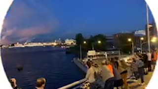 Salute in Saint Petersburg Russia
