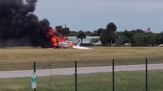 Plane on Fire at Venice Florida Airport