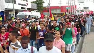Así avanza la jornada de protestas en Cartagena