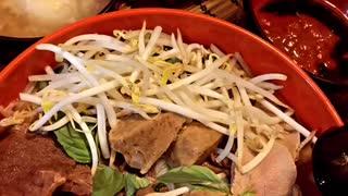 Vietnamese beef noodles soup