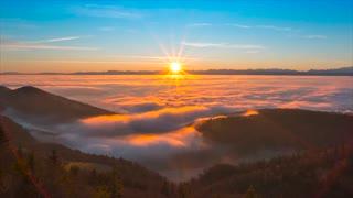 Sunrise clouds with sky