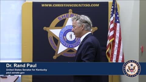 Dr. Rand Paul Visits Christian County LEO