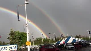Stunning Double Rainbow Sighting