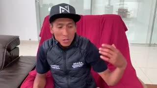 Nairo Quintana habla de su accidente este viernes