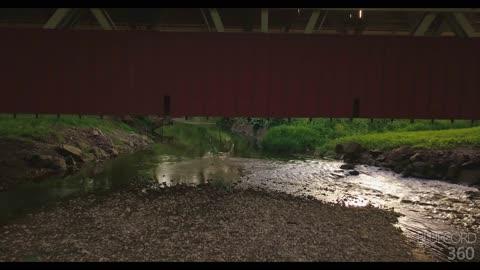 Drone Video of Spain Bridge Union County Ohio