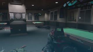 Modern Warfare Multiplayer cyber with an LMG