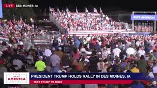 President Donald J Trump in Des Moines, IA 10-9-21