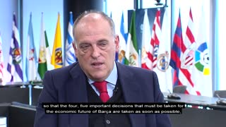 LaLiga president Javier Tebas discusses the competition's future