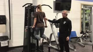 Assisted tricep dip
