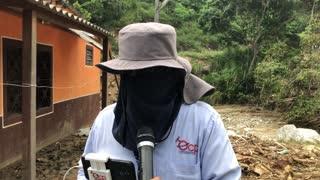 Trabajos sobre la vía entre Bucaramanga y Bogotá