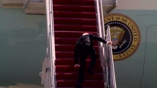 White House: Biden fine after stumble on steps